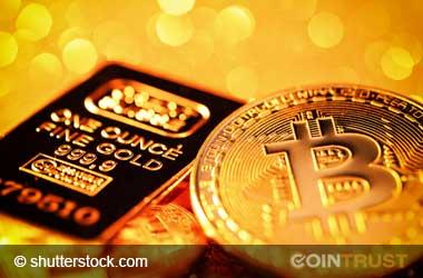 gold bullion and bitcoin
